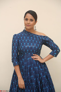 Anchor Anasuya in a Blue Gown at Jai Lava Kusa Trailer Launch ~  Exclusive Celebrities Galleries 013.JPG