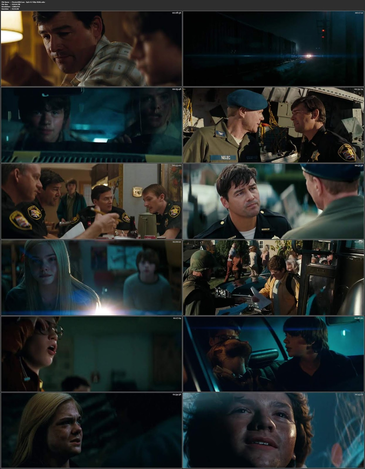 SUPER 8 (2011) Hindi Dubbed 300MB BluRay 480p