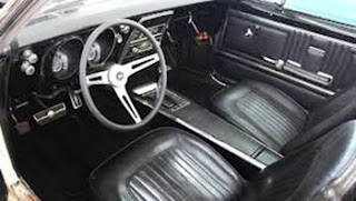 1967 Chevy Camaro SS Convertible Cabin Interior Picture