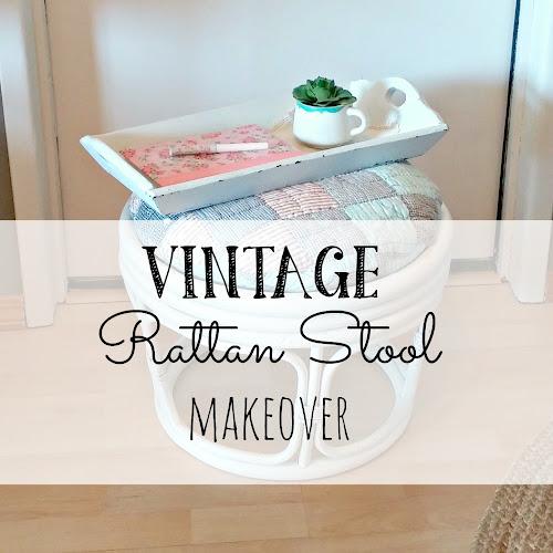 Vintage Rattan Stool #2 Makeover!