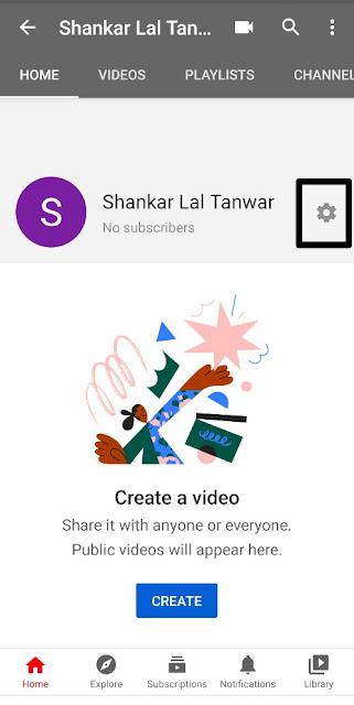 Youtube video setting edit