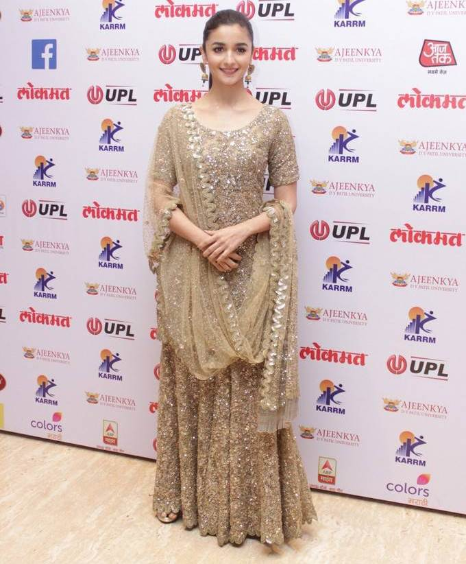 Actress Alia Bhatt Stills At Lokmat Maharashtrian Awards 2017