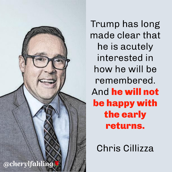 Trump has long made clear that he is acutely interested in how he will be remembered. And he will not be happy with the early returns. — Chris Cillizza, CNN Editor-at-large