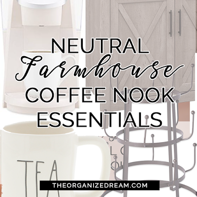Farmhouse style essentials for your coffee nook.
