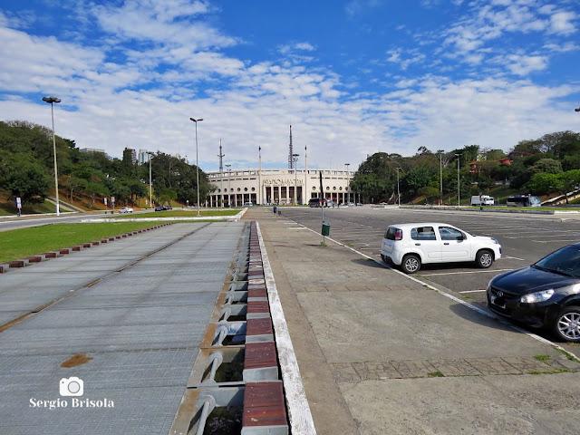 Vista ampla da Praça Charles Miller - Pacaembu - São Paulo