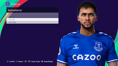 PES 2021 Faces Dominic Calvert-Lewin by Qiya