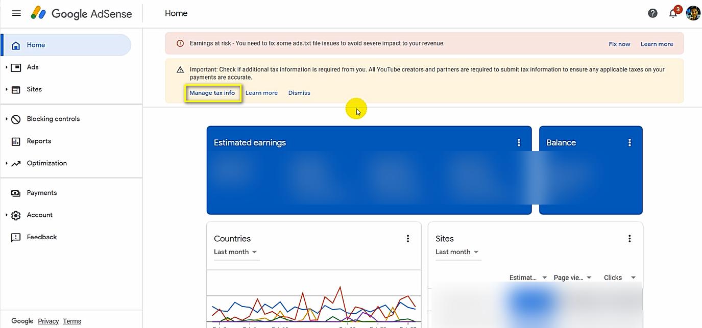 Google Adsense Tax Information Details Philippines