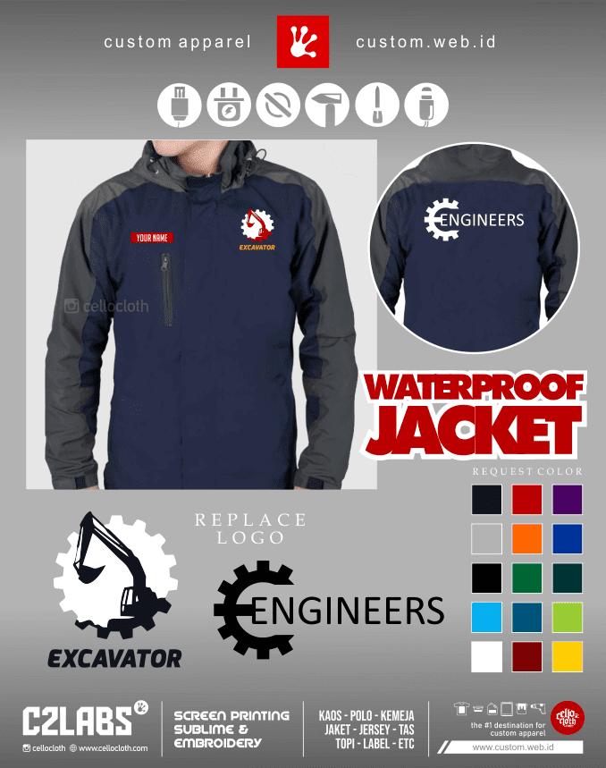 Excavator Civil Engineering Jacket - Jaket Tehnik Sipil - Konveksi Jaket Jogja