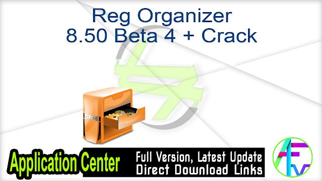 Reg Organizer 8.50 Beta 4 + Crack