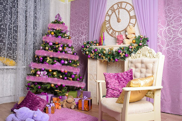 pink-tinsels-for-christmas-decoration