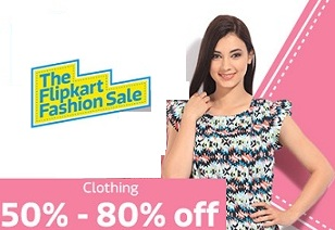 Flipkart Fashion Sale: Flat 50% – 80% Off on Women's Clothing + 10% Extra off with SBI Cards