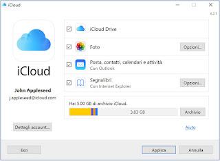 Scaricare file desktop e documenti da iCloud