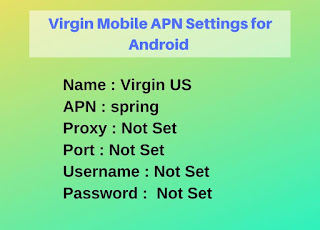 Virgin Mobile US APN Settings for Android Updated