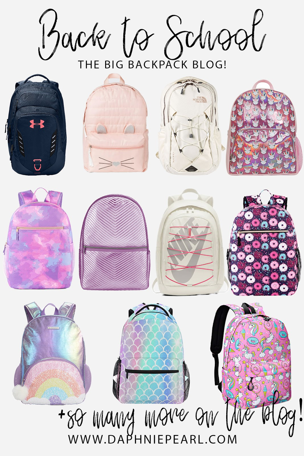 Back to School - The BIG Backpack Blog - Find the perfect unique girl's backpack!  Backpacks Backpack Girls Backpack Cute Backpack Unicorn Backpack Kitty Backpack School Backpack Leopard Backpack Cat Backpack Glitter Backpack Shiny Backpack Rainbow Backpack Galaxy Backpack Space Backpack Nordstrom Target Walmart Amazon