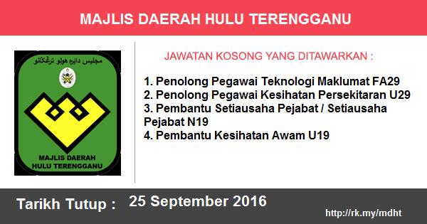 Jawatan Kosong di Majlis Daerah Hulu Terengganu