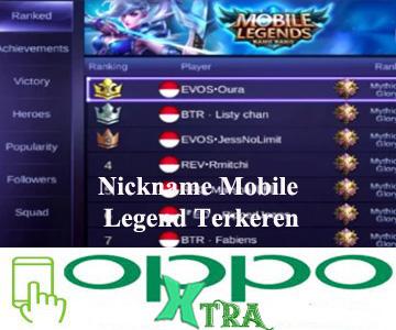 Nickname Mobile Legend Terkeren