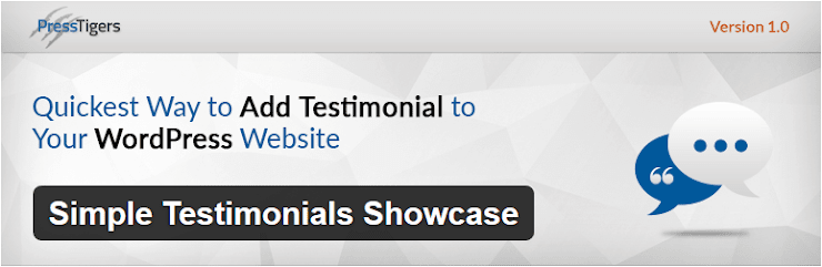 Simple testimonials showcase plugin
