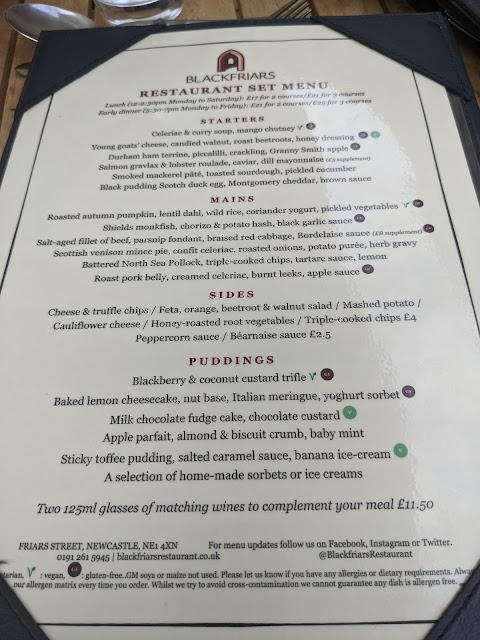 Blackfriars Newcastle - Set Lunch Menu Review