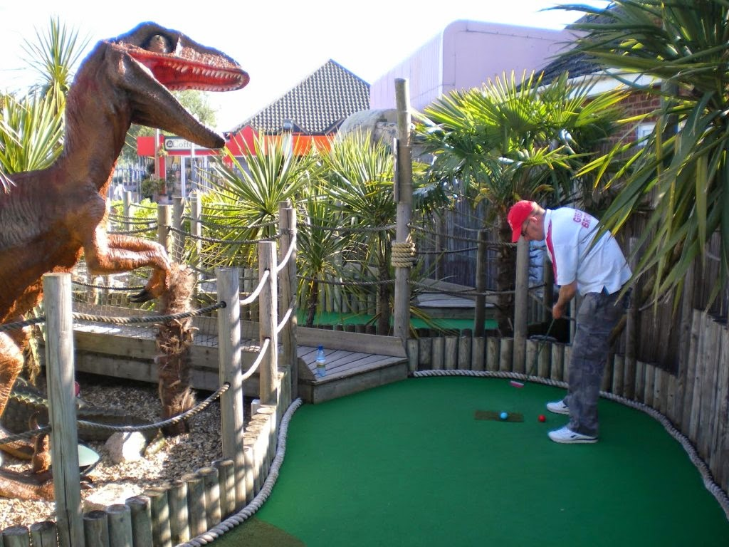 Richard Gottfried at the Lost World Adventure Golf course in Hemsby