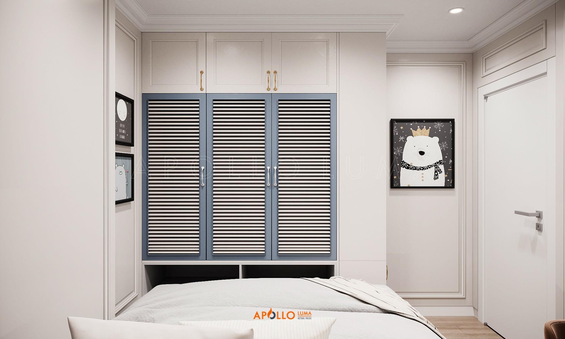 Thiết kế nội thất căn hộ 2PN Vinhomes Smart City phong cách Tân Cổ Điển