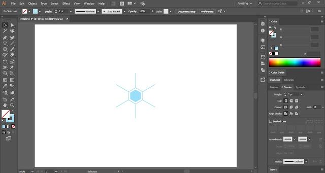 Snowflakes in Adobe Illustrator
