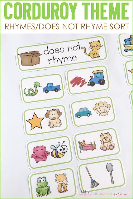 Corduroy: Rhymes/Does Not Rhyme Sort