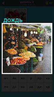 изображение прилавка на рынке во время дождя 667 слов 2 уровень