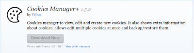 Mozilla Firefox Addons Awesome Cookies Manager +