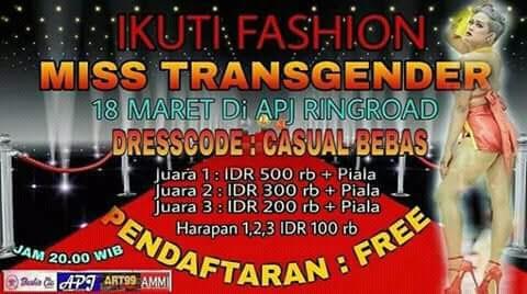Bikin Heboh!  Ramai Dikritik,  Event Miss Transgender di Medan Akhirnya Batal Digelar