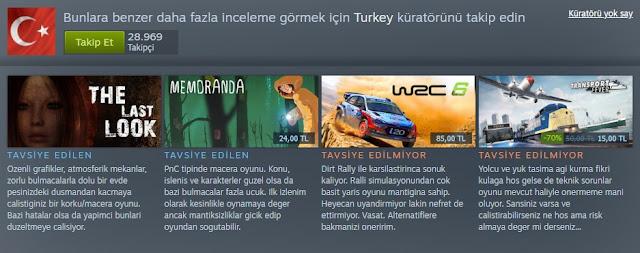 Steam Turkey Küratör Sayfası