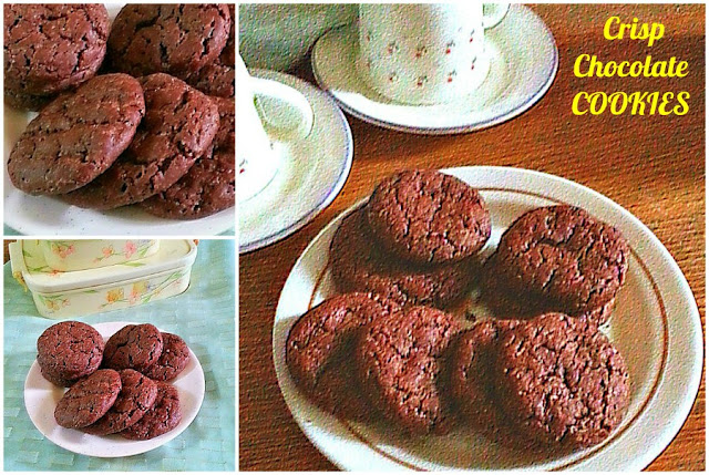 Crisp Chocolate Cookies Recipe @ treatntrick.blogspot,com