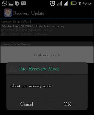 Techvillaz Philz Touch Recovery For Infinix Hot Note x551