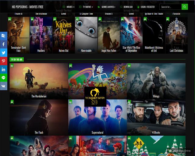 موقع  hdpopcorns لمشاهدة الاقلام والمسلسلات والبرامج التلفزيونية