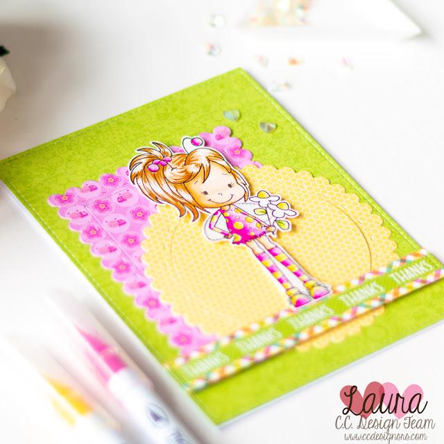 Spring Card Doodlebug C.C. Designs Ladybug