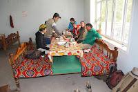 Kyrgyzstan, Arslanbob, Soy Buyi Chaikhana, Hayat, topchan, © L. Gigout, 2012