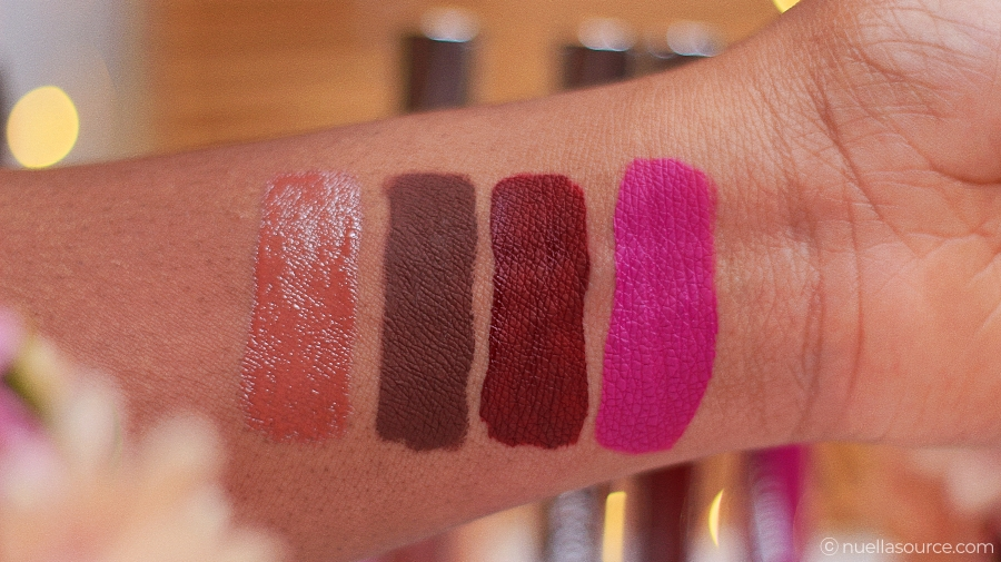 Colourpop ellarie collaboration swatches on woc black brown dark skin netta hennyways sessy yoshi