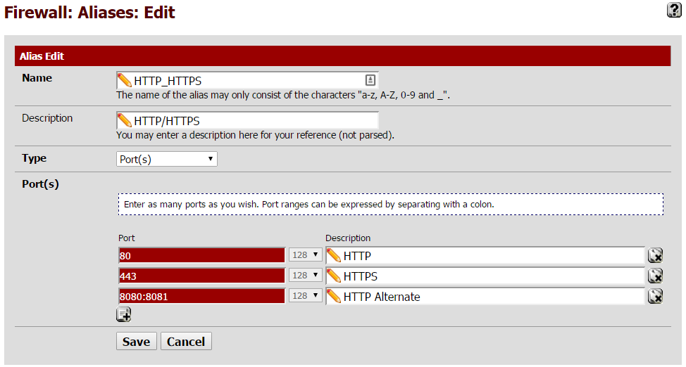 tgharold com: Tech Blog: Using aliases pfSense to create rules for