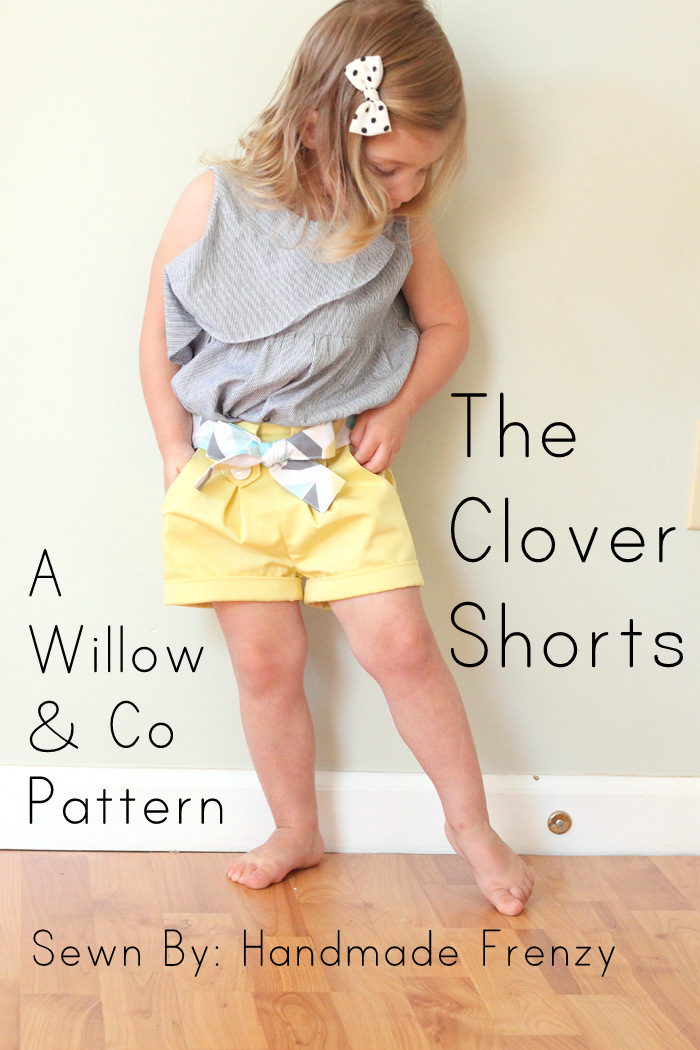 The Clover Shorts - A Willow & Co Pattern
