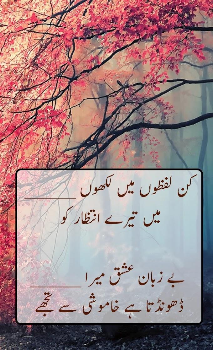 kin lafzo ma likho ma tary intzar ko sad poetry