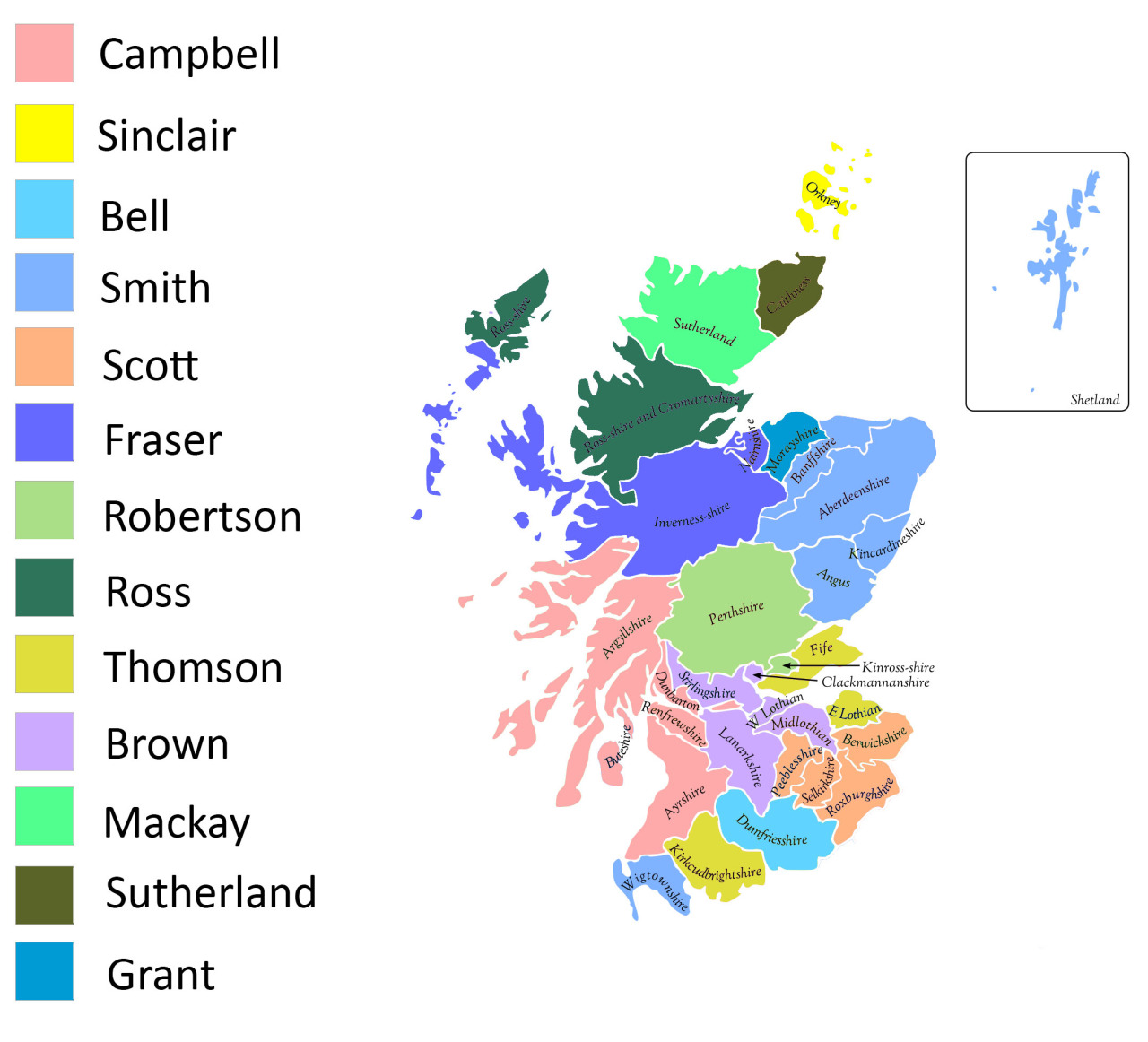 The most common surname in Scotland