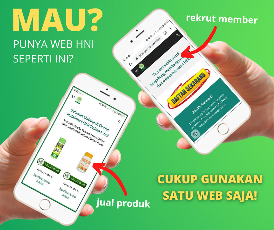 Gambar Promosi Pembuatan Web HNI Halal Mart