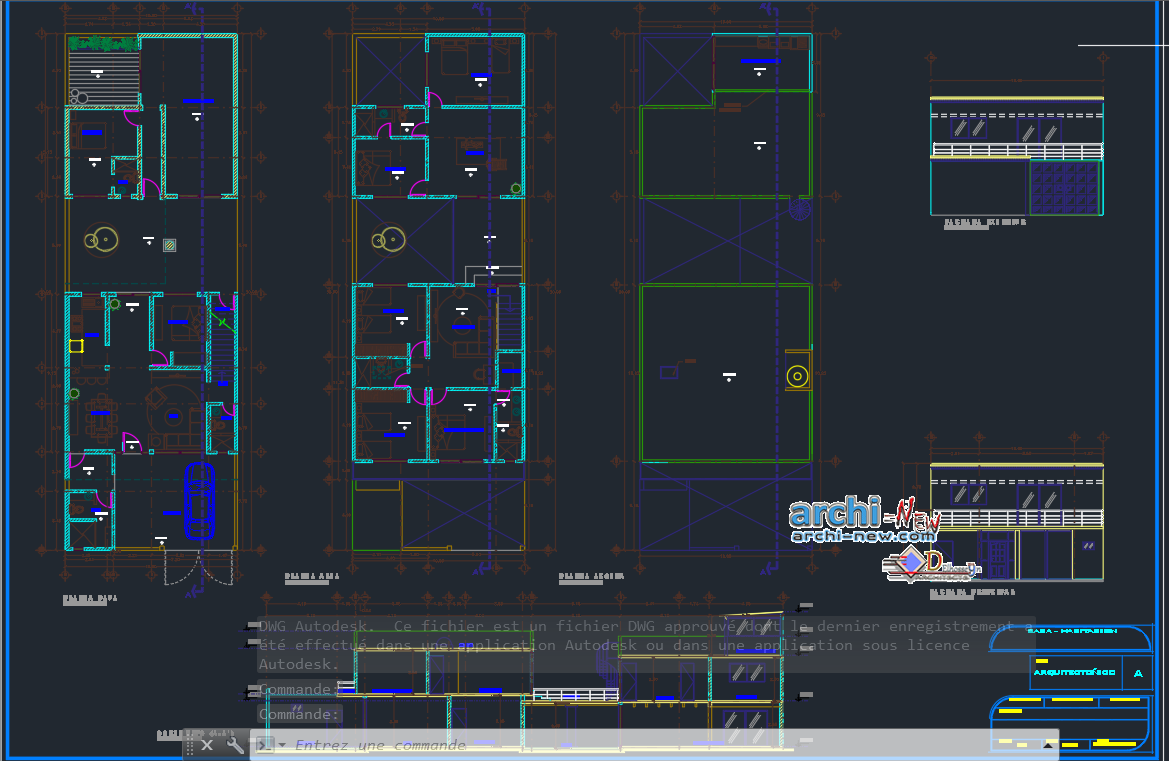Home family in AutoCAD Archi-new - Free Dwg file Blocks Cad