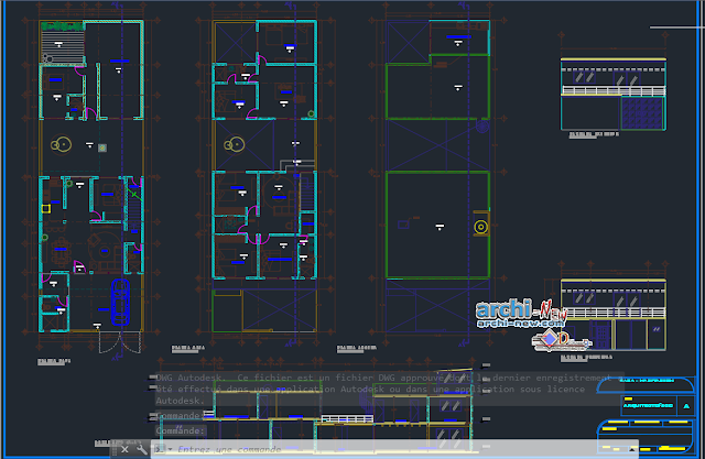 Home family in AutoCAD