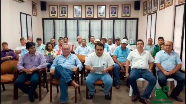 Los representantes ganaderos firmaron el denominado Pacto por la Chiquitanía / FEGASACRUZ