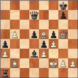 Partida de ajedrez Ribera - Monticelli (1929), posición después de 43.b5!