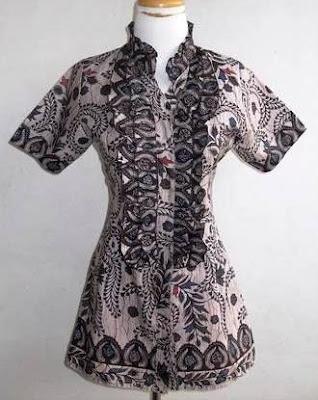 Model Baju Batik Atasan Untuk Pesta