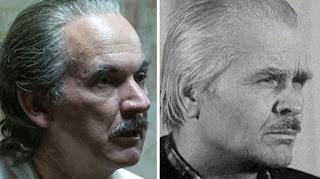 A gauche : Paul Ritter, interprète de Diatlov. A droite : Anatoli Diatlov