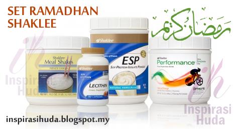 set ramadhan, shaklee, esp, lecithin, meal shakes, perfomance, vitamin, suplemen, puasa, cergas, kenyang, inspirasihuda