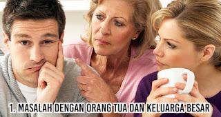 Masalah dengan Orang Tua dan Keluarga Besar