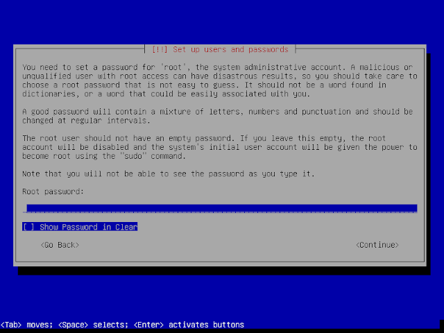 password root instalasi debian 9.6